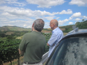 Mike and Bernhard looking out over the Kaiserstuhl.
