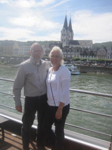 Mike and Mary on Rhine River Cruise, July 2015.
